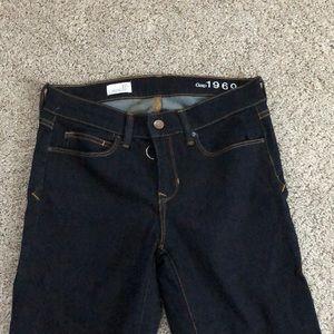 Gap O-ring zipper legging jeans dark wash